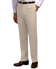 Madison Fit Plain-Front Irish Linen Trousers