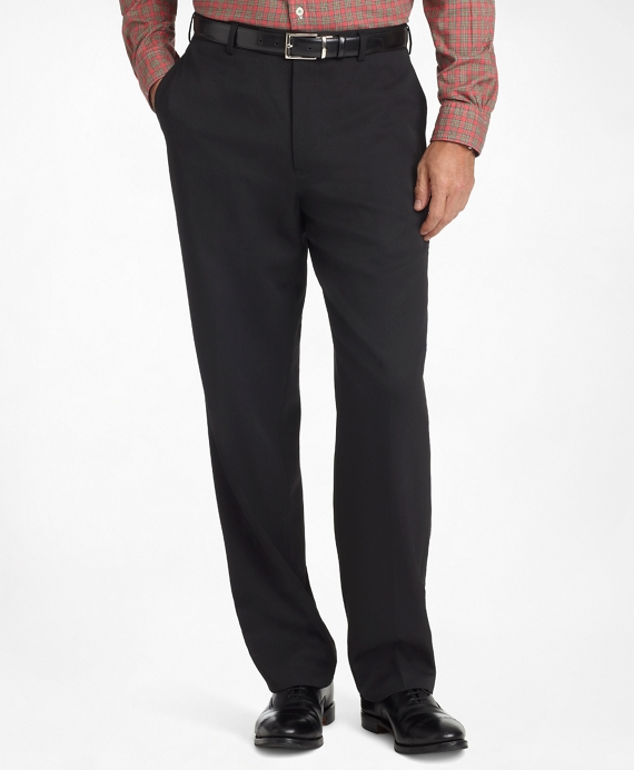 f57dba00c7fa5 Men's Regular Fit Plain-Front Classic Gabardine Pants | Brooks Brothers