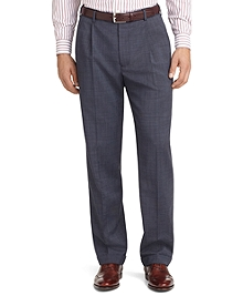 Madison Fit Pleat-Front Tic Weave Trousers