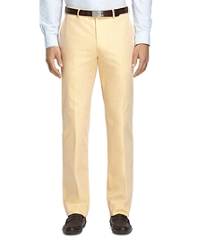 Fitzgerald Fit Plain-Front Cotton Dress Chinos