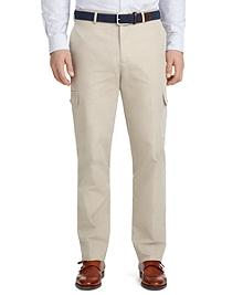 Milano Fit Plain-Front Cotton Cargo Pants
