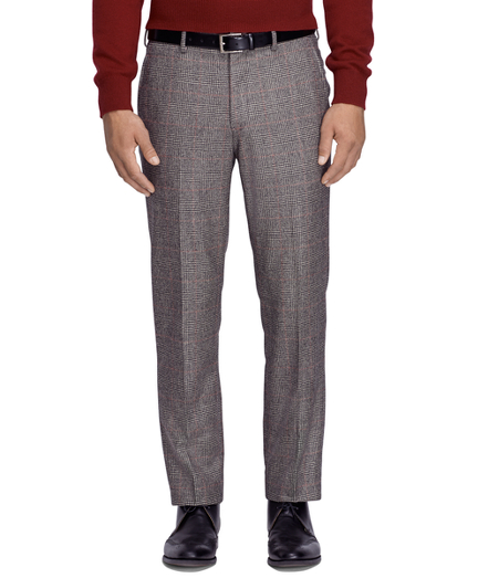 Fitzgerald Fit Saxxon Wool Plaid Dress Trousers