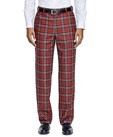 Milano Fit Tartan Dress Trousers