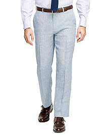 Fitzgerald Fit Linen Check Trousers