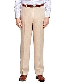 Madison Fit Linen Herringbone Dress Trousers