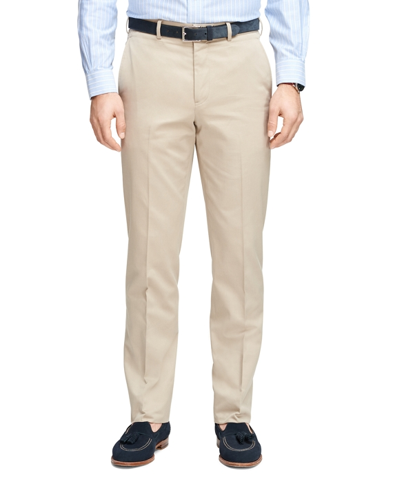Regent Fit Own Make Tan Dress Trousers Tan