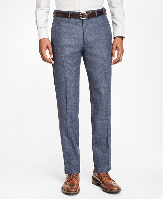 Milano Fit Stretch Flannel Trousers Blue