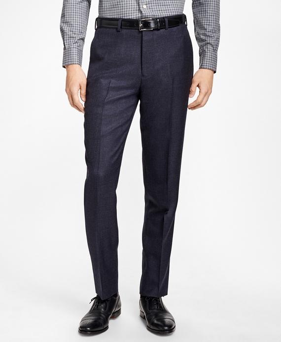 Regent Fit Check Trousers Blue