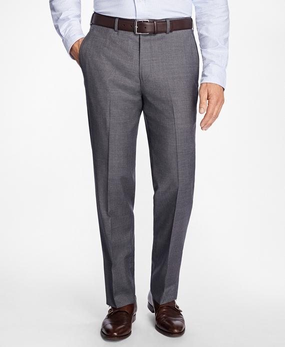 Madison Fit Tattersall Dress Trousers Grey