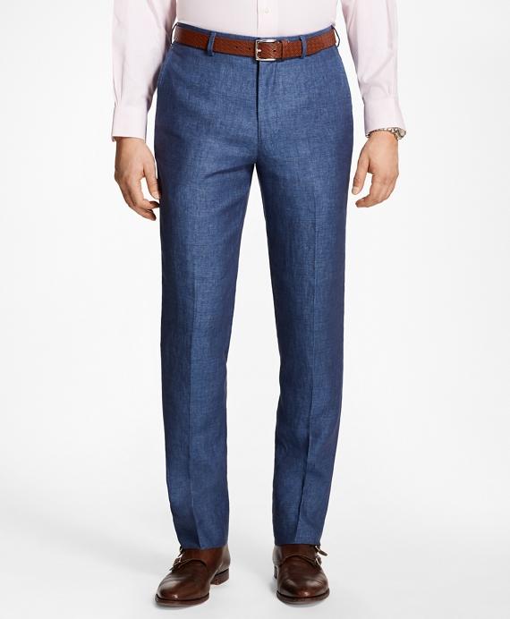 Regent Fit Linen Trousers Blue