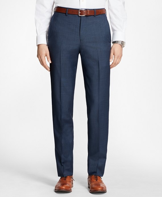 Regent Fit Houndscheck Trousers Blue