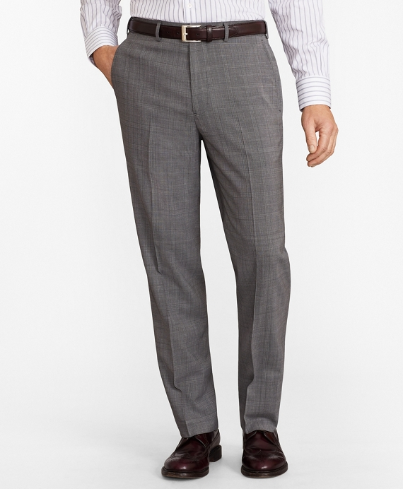 Madison Fit BrooksCool® Micro-Check Trousers Grey