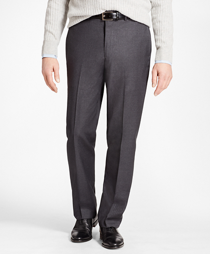 Madison Fit Grey Tonal Check Trousers