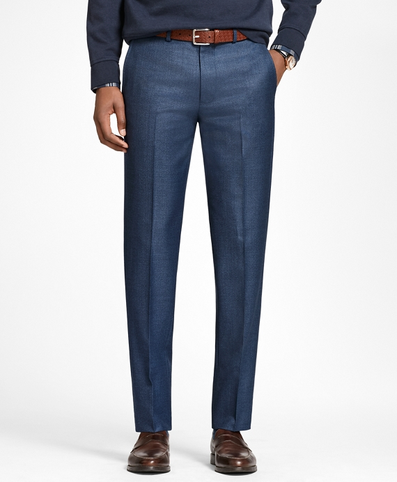 Milano Fit Wool Trousers Blue