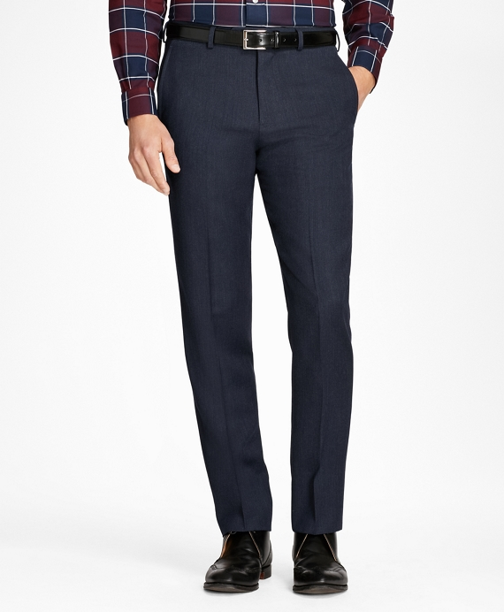 Regent Fit Whipcord Wool Trousers Blue