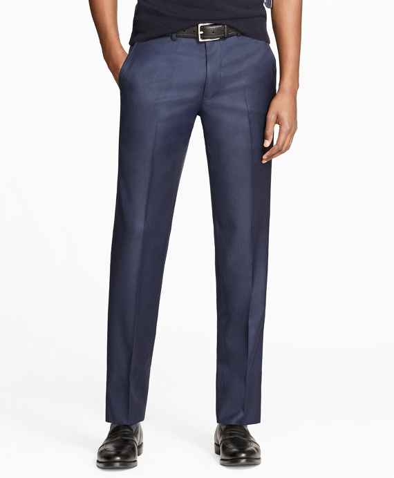 Milano Fit Stretch Wool Trousers Blue