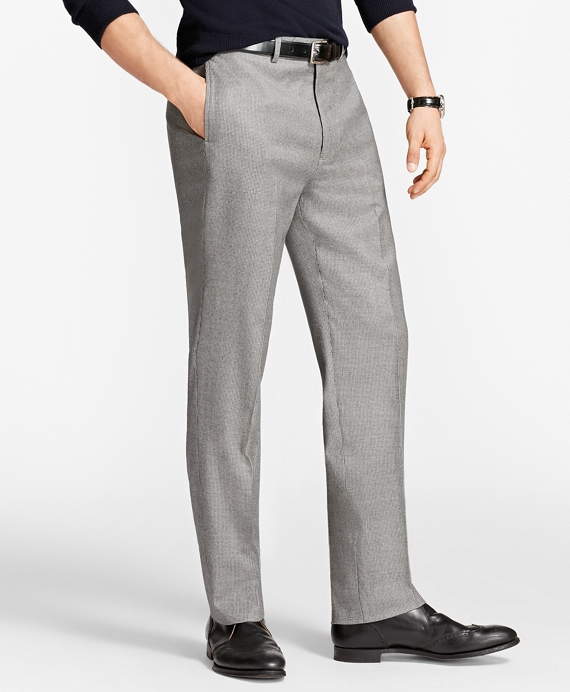 Madison Fit Houndscheck Trousers Black-White