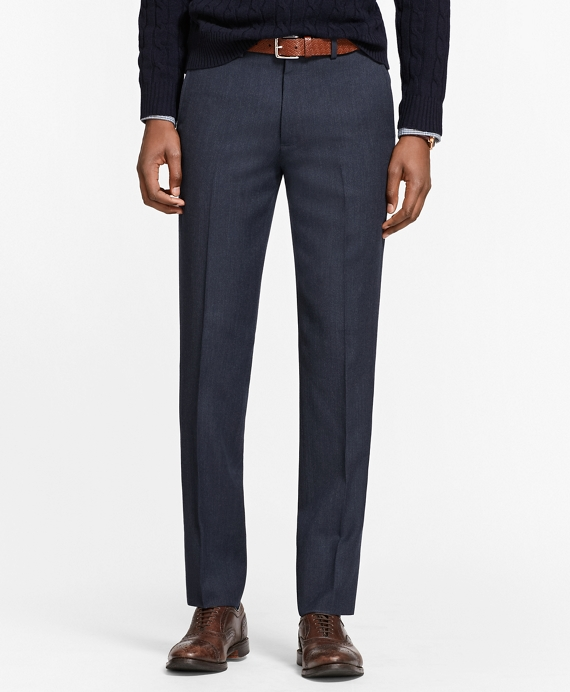 Milano Fit Whipcord Wool Trousers Blue