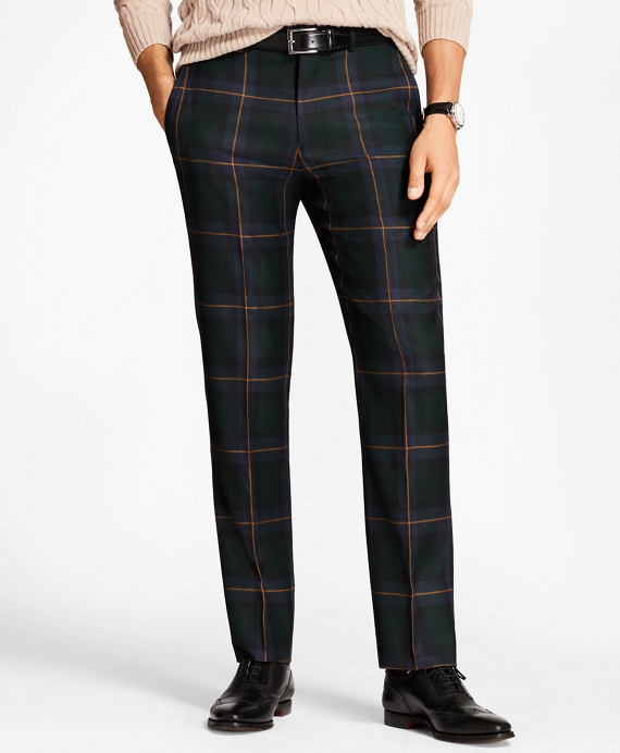 Regent Fit Plaid with Deco Trousers Navy