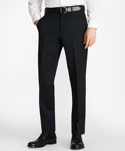 Milano Fit Flat-Front Classic Gabardine Trousers