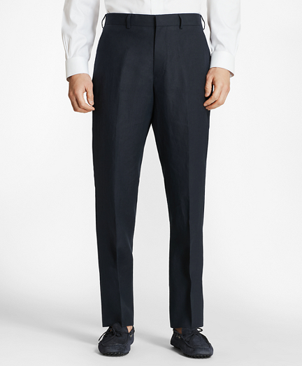 Regent Fit Linen Trousers