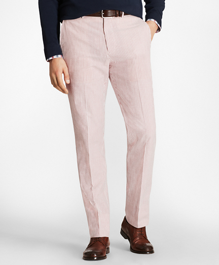 Regent Fit Seersucker Trousers