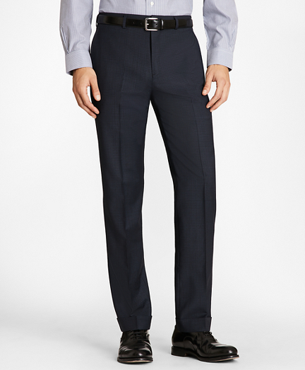 Regent Fit Wool and Mohair Check Trousers