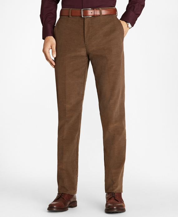 Regent Fit Fine Wale Stretch Corduroy Trousers Tan