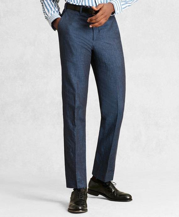 Golden Fleece® Linen Cotton Chino Trousers Navy