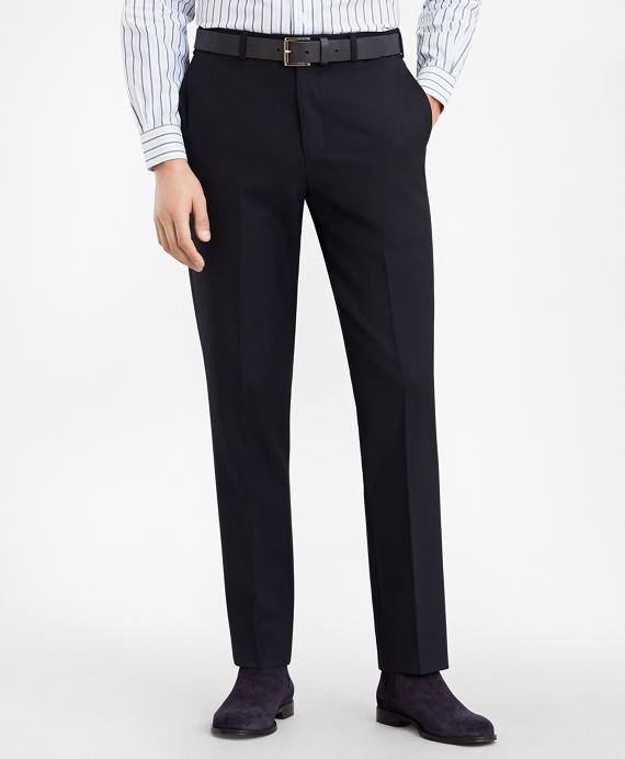 Regent Fit Stretch Wool Trousers Navy