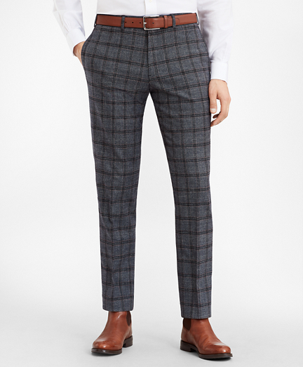 Milano Fit Multi-Plaid Trousers