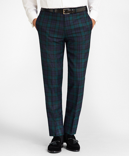 Madison Fit Black Watch Wool Trousers