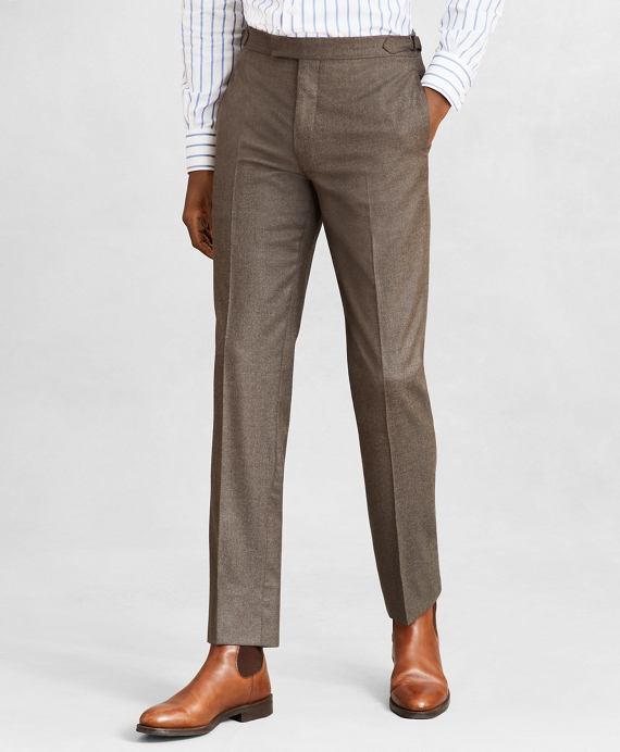 Golden Fleece® Regent Fit Flannel Trousers Brown