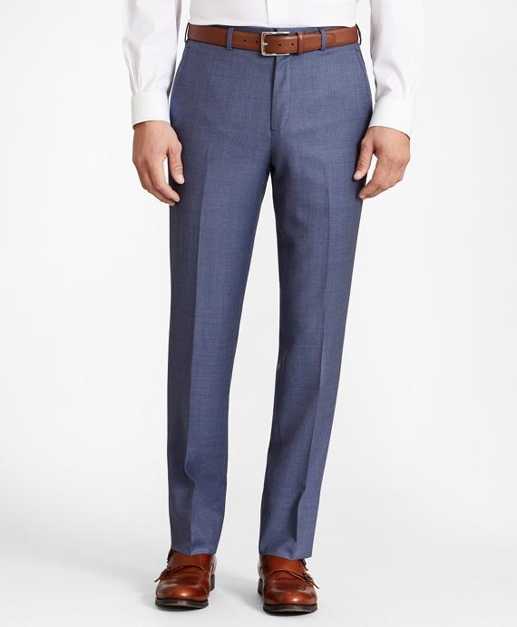 Regent Fit Wool Trousers Blue