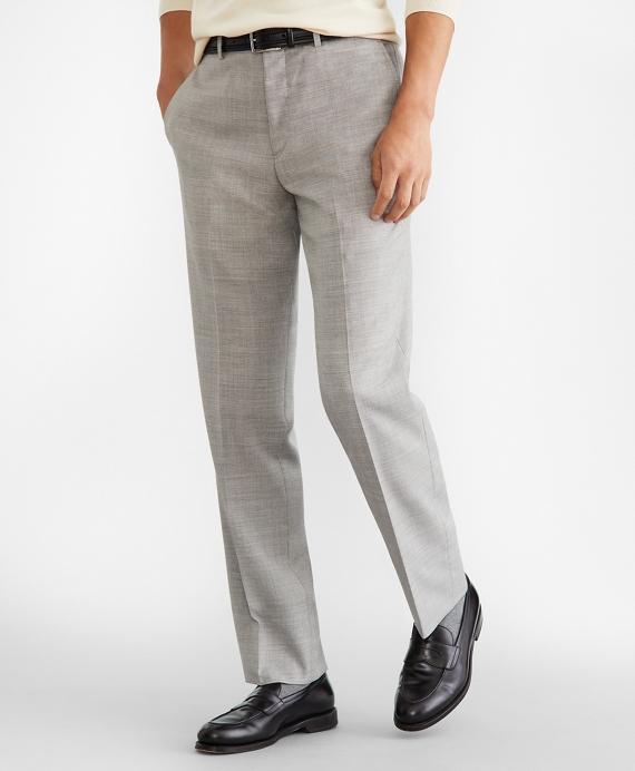 Regent Fit Wool Trousers Grey