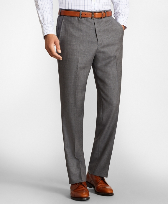 Madison Fit Wool Trousers Grey