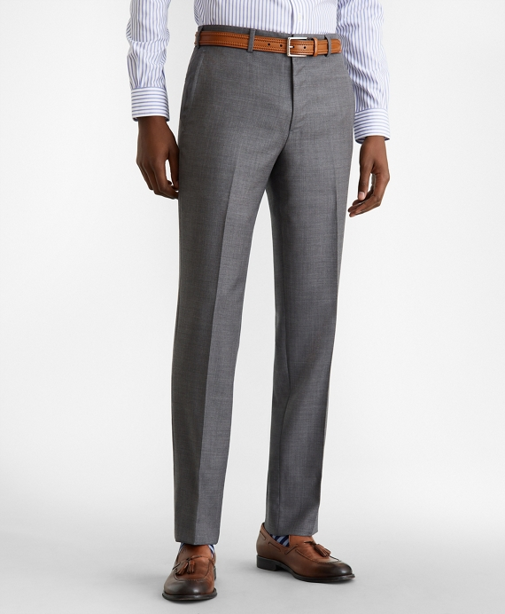 Milano Fit Wool Trousers Grey