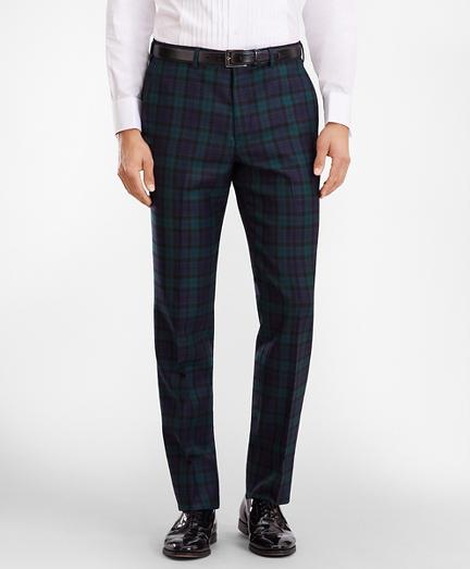 Regent Fit Black Watch Wool Trousers