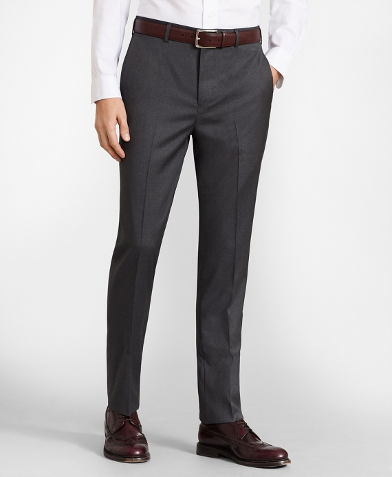 BrooksFlex™ Milano-Fit Wool Trousers Grey