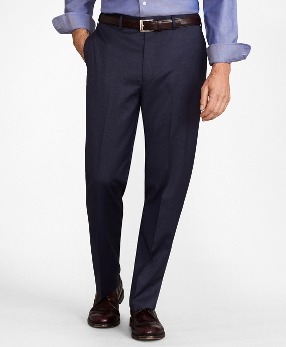 BrooksFlex™ Madison-Fit Wool Trousers Blue