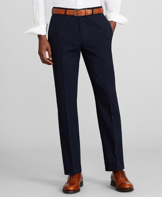Milano Fit Seersucker Trousers Navy
