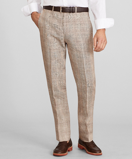 Madison Fit Check Linen Trousers
