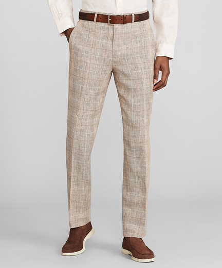Milano Fit Check Linen Trousers