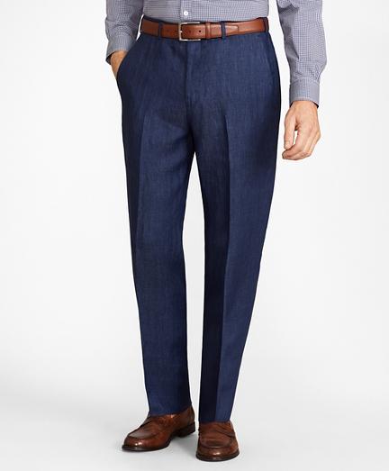 Madison Fit Herringbone Linen Trousers