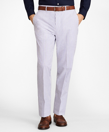 Madison Fit Stripe Seersucker Trousers