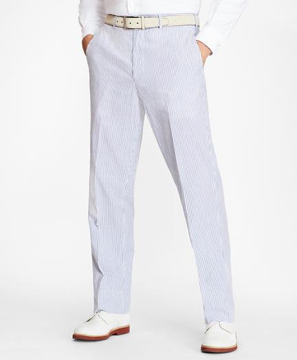 Regent Fit Stripe Seersucker Trousers