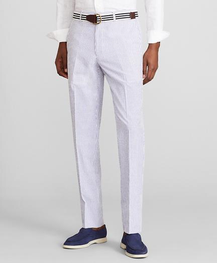 Milano Fit Stripe Seersucker Trousers