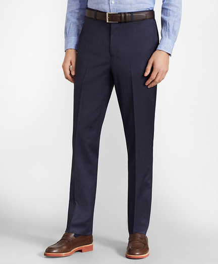 BrooksFlex™ Milano-Fit Wool Trousers, Unfinished Hem
