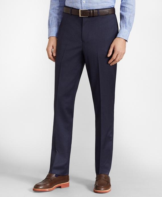 BrooksFlex™ Milano-Fit Wool Trousers, Unfinished Hem Blue