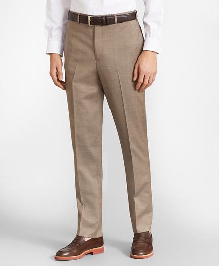 BrooksFlex™ Milano-Fit Wool Trousers, Unfinished Hem